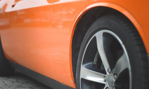 side-view-of-an-orange-sports-car